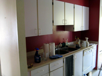 apartment kitchen makeover honey shaker cabinet and formica counter